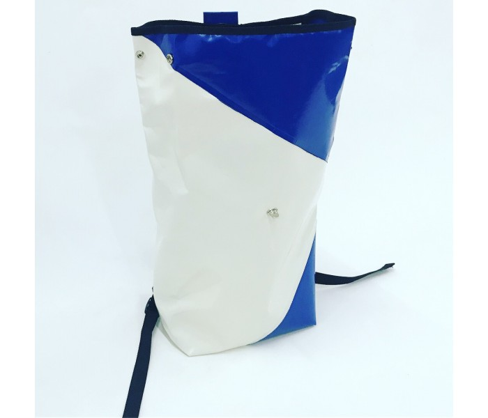 Blue & Cream Medium Rucksack